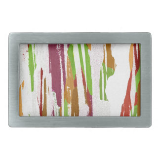 Abstract Rainbow Splash Design Belt Buckle
