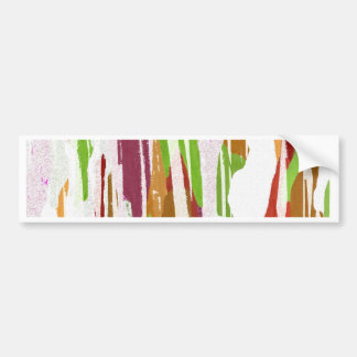 Abstract Rainbow Splash Design Bumper Sticker