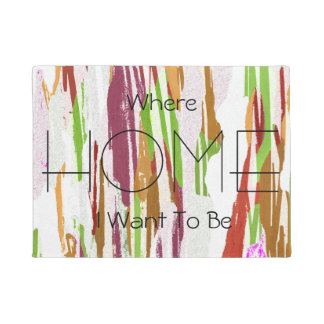 Abstract Rainbow Splash Design Doormat