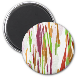 Abstract Rainbow Splash Design Magnet