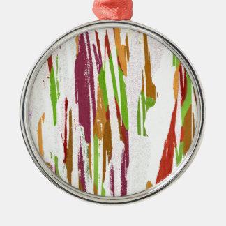 Abstract Rainbow Splash Design Metal Ornament