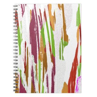 Abstract Rainbow Splash Design Notebook