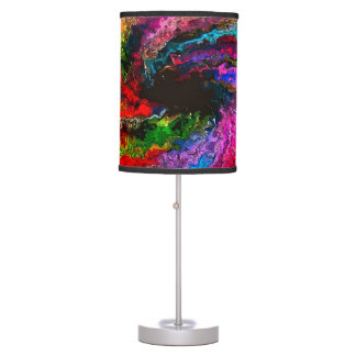 Abstract Rainbow Storm Table Lamp