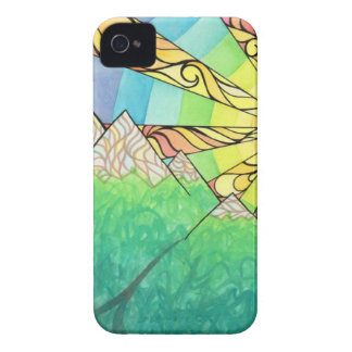 Abstract Rainbow Sun Setting Watercolor & Marker Case-Mate iPhone 4 Case