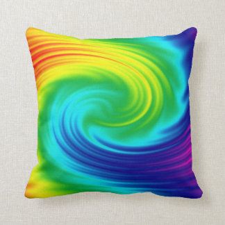 abstract rainbow swirl texture. throw pillow