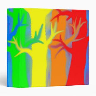 Abstract Rainbow Trees 3-Ring Binder
