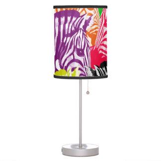 Abstract Rainbow Zebras Table Lamp