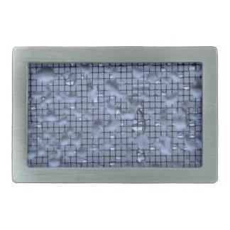 Abstract Raindrops on Window Blue Rectangular Belt Buckle