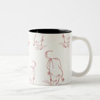 Abstract rat line work mug