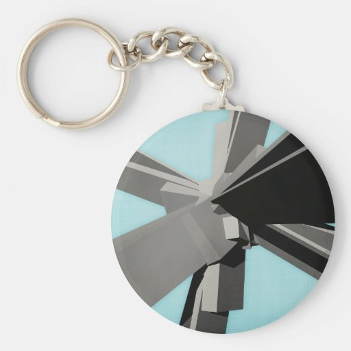 Abstract Rectangular Slabs Key Chains