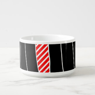 Abstract red and black chili bowl