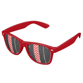 Abstract red and black sunglasses