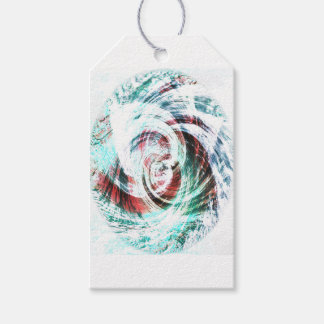 Abstract Red and Green Patterned Gift Tags