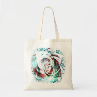 Abstract Red and Green Patterned Tote Bag