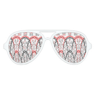 Abstract red and grey party sunglasses