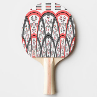 Abstract red and grey ping pong paddle
