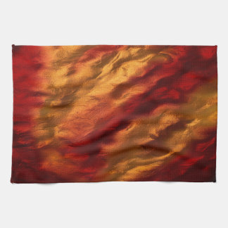 Abstract Red And Orange Texture Kitchen Towel