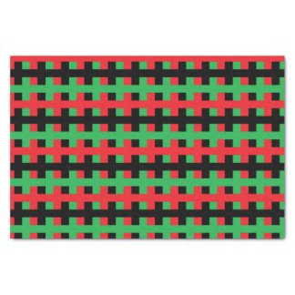 Abstract Red, Black and Green Tissue Paper