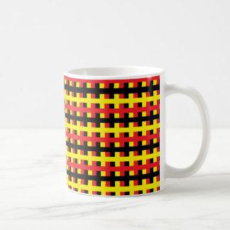 Abstract Red, Black and Yellow Coffee Mug