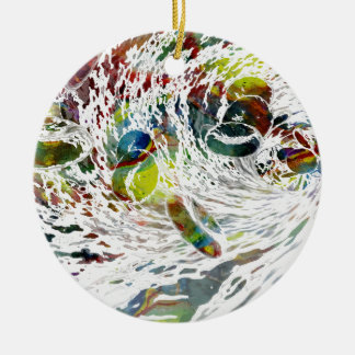 Abstract Red Blood Cells Medical Gifts Ceramic Ornament
