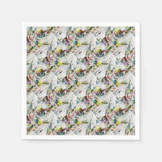 Abstract Red Blood Cells Medical Gifts Disposable Napkins
