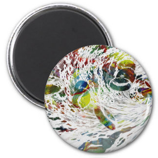 Abstract Red Blood Cells Medical Gifts Magnet