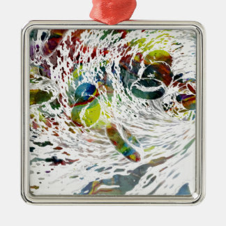 Abstract Red Blood Cells Medical Gifts Metal Ornament