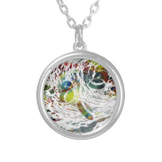 Abstract Red Blood Cells Medical Gifts Silver Plated Necklace