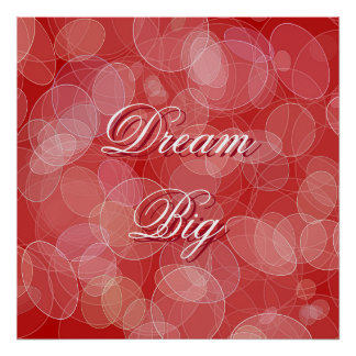 Abstract red bokeh effect texture. Text. Poster