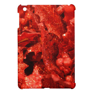 abstract red christmas berries iPad mini covers