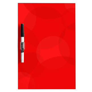Abstract Red Circle Background Dry Erase Board
