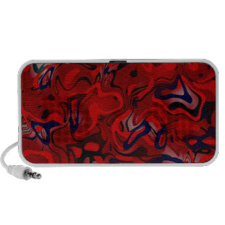 Abstract Red Cool Fun Doodle Speakers by OrigAudio