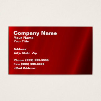 Abstract Red Curtain Business Card