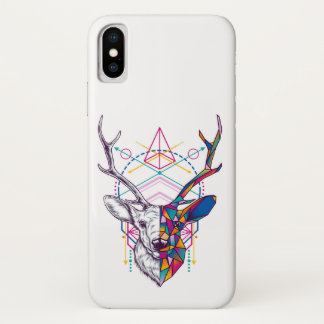 Abstract red deer iPhone x case