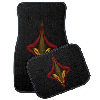 Abstract Red Diamond Car Carpet