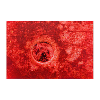Abstract Red Digital Painting on Real Photography Acrylic Print