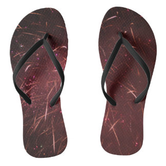 Abstract Red Flip Flops