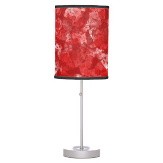 Abstract Red Glass Table Lamp