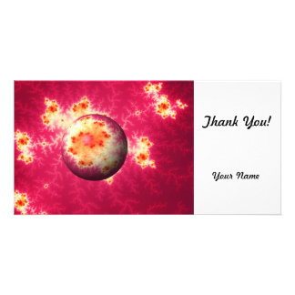 Abstract Red Globe Photo Greeting Card