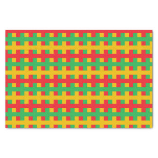 Abstract Red, Green and Gold Tissue Paper
