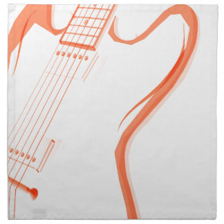 Abstract Red Guitar Background Napkin