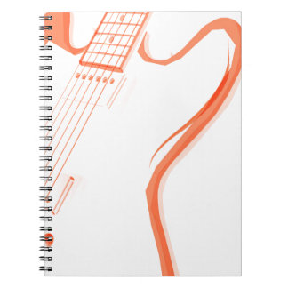 Abstract Red Guitar Background Notebooks