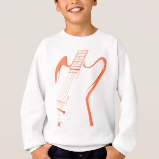 Abstract Red Guitar Background Sweatshirt