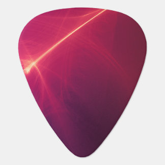 Abstract Red Light Wave Guitar Pick