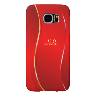 Abstract Red line Samsung Galaxy S6 Cases