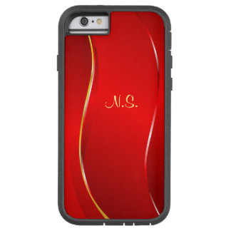 Abstract Red line Tough Xtreme iPhone 6 Case