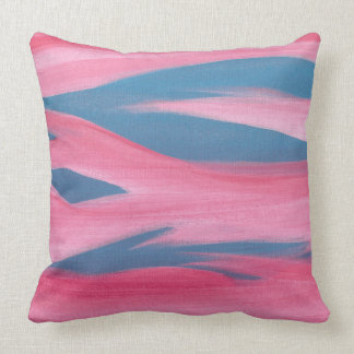 Abstract Red Night Sky Pink Blue Throw Pillows