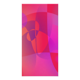 Abstract  Red Personalized Photo Card