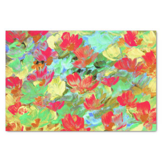 Abstract Red Poppies Tissue Paper
