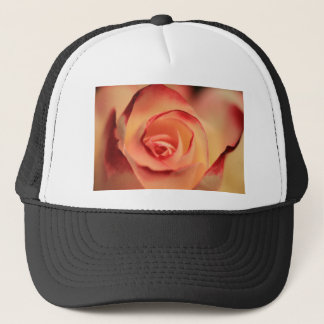 Abstract red rose eye trucker hat